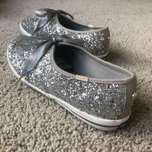 Kate Spade x KEDS Silver Glitter Sneakers | Size 7